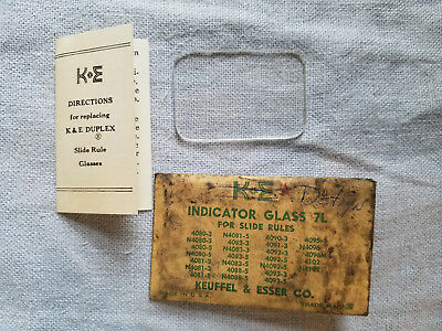 vintage Keuffel & Esser indicator glass 7L replacement for slide rules
