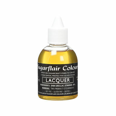 Sugarflair Edible Sugarcraft Airbrush Lacquer Confectioner's Glaze Varnish 60ml