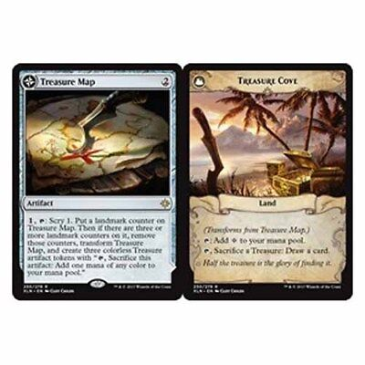 *Magic MtG: Treasure Map / Treasure Cove (Rare) - IXALAN *TOP*