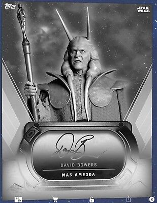 Topps Star Wars Card Trader Signature Platinum Noir Auto Mas Amedda David Bowers