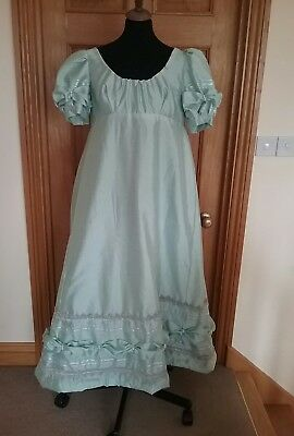 ladies  unique regency ball gown 12 to 14 mint green costume theatre  play
