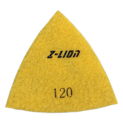 80mm Triangular Wet/Dry Diamond Polishing Pads Granite Concrete Marble 120#