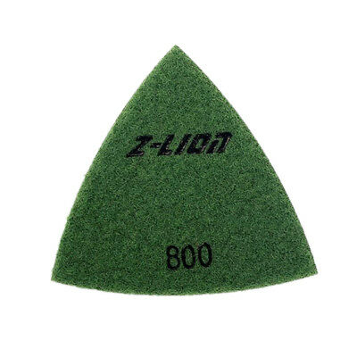 80mm Electroplated Diamond Triangular Dry Polishing /Buffing Pad 800 Grit