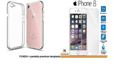Funda Carcasa Gel Silicona Transparente para iPhone 8 de 4,7""