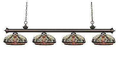 Pool Billiard Table Light Z-Lite Riviera Olde Bronze 4 Light Islnd 200-4OB-Z14-3