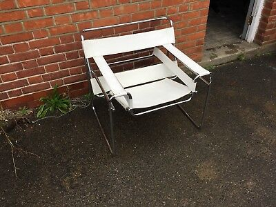 Wassily Style Chair Retro Modern Mid Century