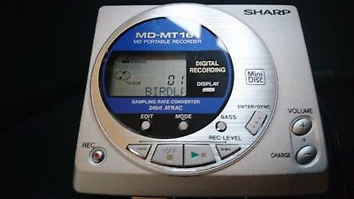 Sharp (MD-MT161) Personal MiniDisc Player + EXTRAS