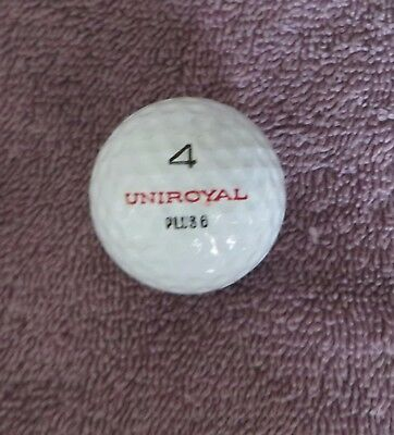 RARE VINTAGE UNIROYAL 4 PLUS 6  GOLF BALL 1960s GREAT CONDITION