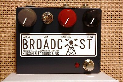Hudson Electronics - Broadcast Boost/Overdrive/Fuzz Guitar Pedal