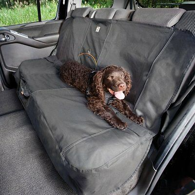 Car Bench Seat Cover for Dogs, Black – Stain & Water Resistant – Universal Fit