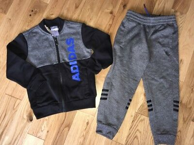 Adidas Grey Tracksuit Age 4-5 Years Excellent Condition