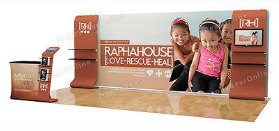 Trade show A8 Display booth package 20ft (TV stand, Display shelves)
