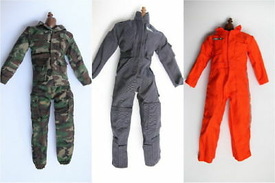 1/6 Scale Orange jumpsuit mazarine jumpsuit Green Camo LOT 3 clothes Uniform 12""