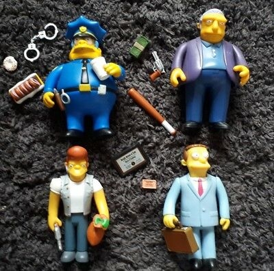 The Simpsons WOS figures x4 law and order Chief Wiggins, Fat Tony, Snake & Hutz