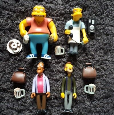 The Simpsons WOS figures x4 bar flies Moe, Barney, Lenny and Carl