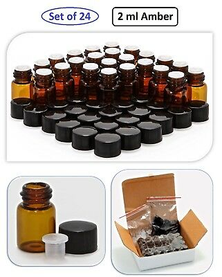 2ml Amber Glass Bottles Cosmetic Jar Cream Makeup Essential Oil Sample Container