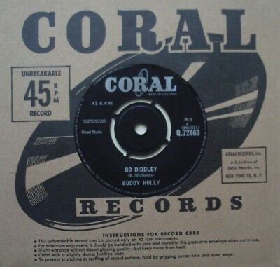 Buddy Holly, Bo Diddley / It's Not My Fault, Coral, 7Inch 45Rpm