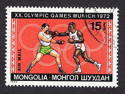 1972 Mongolia 15m Olympic Games Munich Boxing SG678 FINE USED R28728
