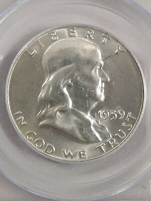 1959 Ben Franklin Half Dollar MS64FBL PCGS Graded Coin Silver #4073 No Reserve