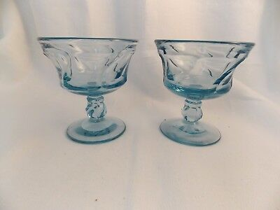 2 Fostoria Jamestown Blue Sherbets/Dessert Glasses