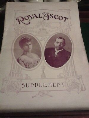 Antique Royal Ascot Supplement Illustrated Sporting News June 1914 Racing