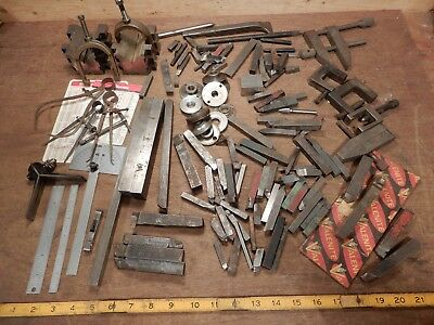 lot vintage lathe bits machine machining tool carboloy carbide forged metal