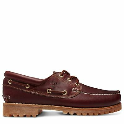 Timberland Shoes Heritage 3-Eye Classic Moccasin - Burgundy 50009