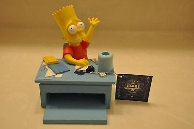 "RARE BART SIMPSON ""PENCIL/PEN HOLDER"" 2001 ""AVE of the STARS""=TROPICO / FRANCE"