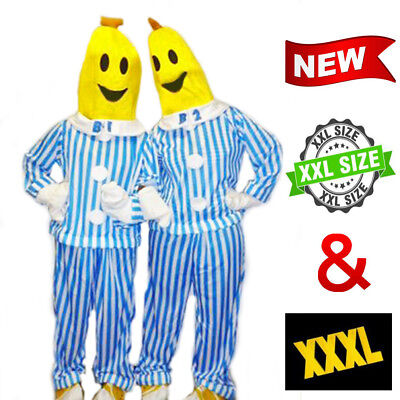 1 PACK Bananas in Pyjamas Mens Womens Halloween Party Costume B1 B2 Plus Sizes
