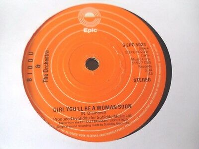 """Biddu & The Orchestra - Girl You'll Be A Woman Soon  7""""  77  G  (Plays Great)"""