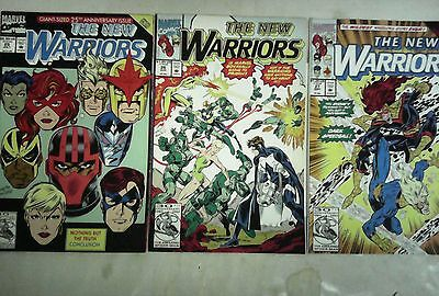 The New Warriors issues # 25 26 and 27 comic book lot(Marvel,1990s)