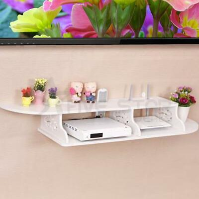 New Floating Shelves Wall Mount For Cd Tv Dvd Router Book Display Storage Wooden