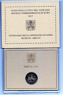 2 Euro Vatican 2017  . Centenaire Des Apparitions De Fatima.commemorative.