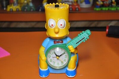 "RARE 1990's BART SIMPSON BOOTLEG ""GUITAR CLOCK"" from SPAIN"