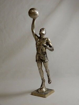 1929 JOSTEN'S MFG Co. BASKETBALL FIGURAL TROPHY SIMILAR TO SPALDING