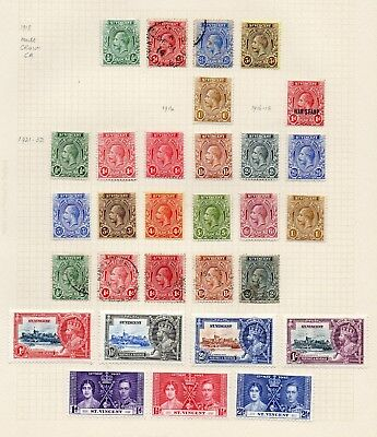 St Vincent George V Collection To 1/- Incl 1935 Jubilees - Mounted Mint & Used