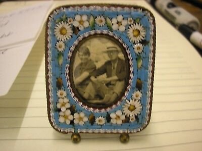 Antique Metalware  Micro Mosaic Miniature Picture Frame