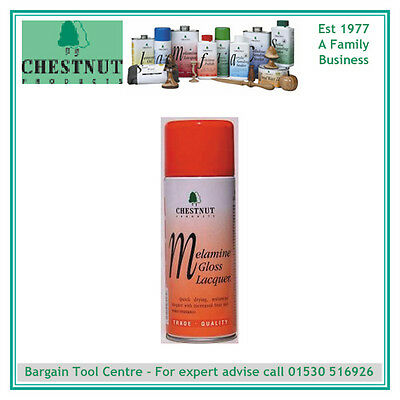 CHESTNUT PRODUCTS MGL400 Melamine Gloss Lacquer , 400ml Aerosol