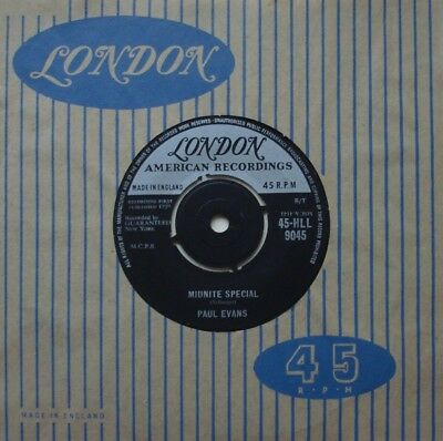Paul Evans, Midnite Special / Since I Met You Baby, London, 7Inch 45Rpm