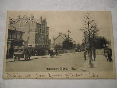 Vintage Postcard - Tetherdown, Muswell Hill 1908