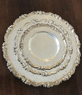 Beautiful Sterling Silver Camusso Tray / Plates made in Peru