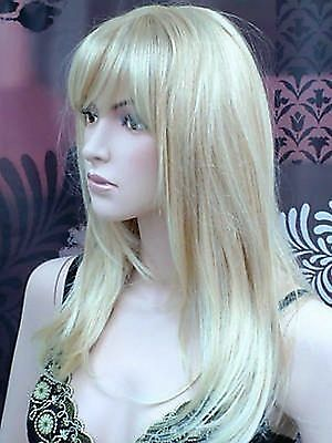 Ladies Long Blonde Wig Faceframe Page Style Blonde Blend Fashion Wigs!  Vogue UK