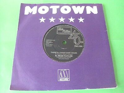 "R. Dean Taylor - There's A Ghost In My House  7""  (Reissue)  Vg"