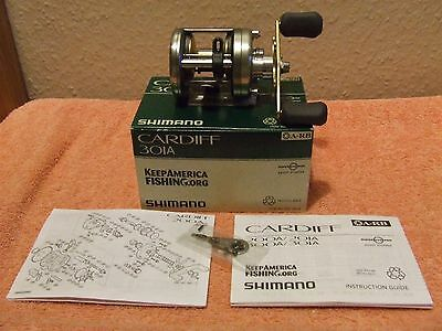 shimano cardiff 301A multiplyer reel + box & paper work (pike,catfish,zander)