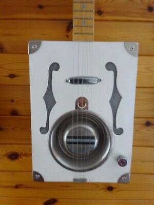 Cigar Box style Cat bowl resonator electric four strings Banjo