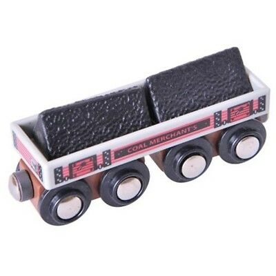 BigJigs Big Coal Wagon BJT408 Wooden Railway Preschool Toys