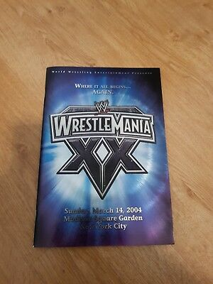 WWE Wrestlemaina 20 Programme