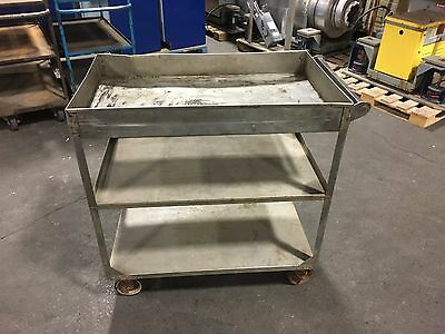Wheel trolley Stainless 36'' x 21'' x 37''
