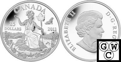 2013 Silver 'Allegory' Proof $25 Silver Coin .9999 Fine (13230)