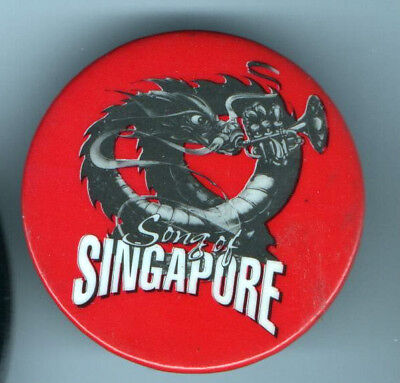 old DRAGON Pin Song of  SINGAPORE Trumpet Button